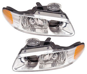 For 2000 Chrysler Dodge Plymouth Town Country Caravan Voyager Headlights Pair
