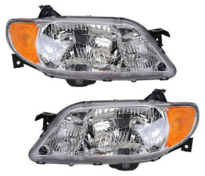 For 2001 2002 2003 Mazda Protege Headlights Pair Set