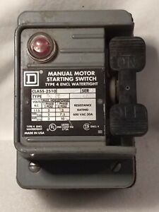 Square D 2510 Series A Manual Motor Starting Switch Complete