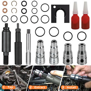 For Ford 6 0l Powerstroke Cylinder Head Repair Kit Fuel Injector Sleeve 28pcs