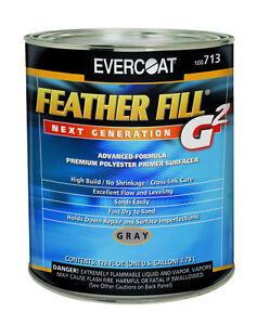 Feather Fill Polyester G2 Gray Primer 713 Evercoat Auto Body Restoration Paint