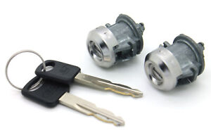 New Oem Door Lock Cylinder Set W ford Logo Keys Fits Listed Ford Truck Cars