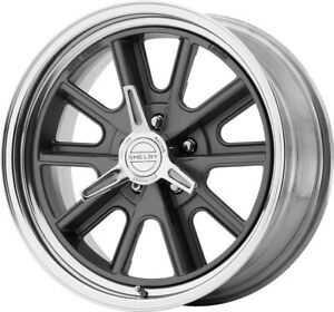 American Racing 18x7 Vn427 Shelby Cobra Wheel Mag Gray Polished 5x4 5 Bs 4 0