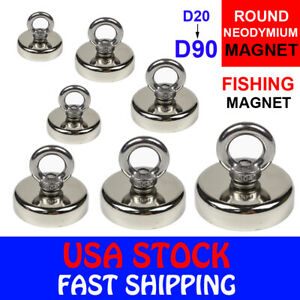 Fishing Magnet Neodymium Strong Pull Force Retrieving Treasure Hunt 14 660lb