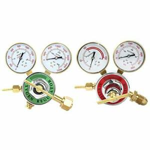 2 Piece Welding Gas Gauges Oxygen cga 540 And Acetylene cga 510 Regulators