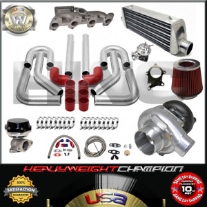 Turbo Kit T3 T4 For 95 02 Chevy Cavalier Sunfire 2 2l S10 Ic Wg Bov Manifold Rd