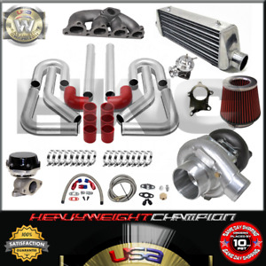 Turbo Kit T3 T4 For 88 00 Civic Delsol Crx D15 D16 Fmic Pk Wg Bov Manifold Rd
