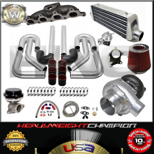 Turbo Kit T3 t4 For 90 93 Accord 92 96 Prelude F22a H23 Ic Pk Wg Bov Manifold Bk
