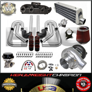 Turbo Kit T3 t4 For Volkswagen Golf Gti Jetta Mk3 4 2 0 Ic Pk Wg Bov Manifold Bk