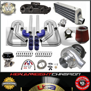 Turbo Kit T3 t4 For Volkswagen Golf Gti Jetta Mk3 4 2 0 Ic Pk Wg Bov Manifold Bl