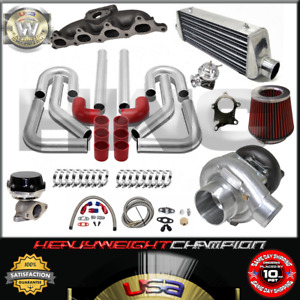 Turbo Kit T3 t4 For 90 93 Accord 92 96 Prelude F22a H23 Ic Pk Wg Bov Manifold Rd
