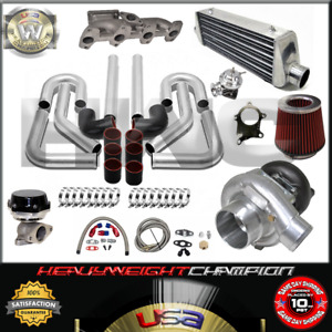 Turbo Kit T3 T4 For 95 02 Chevy Cavalier Sunfire 2 2l S10 Ic Wg Bov Manifold Bk