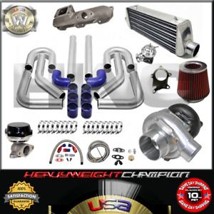 Turbo Kit T3 T4 For 95 99 Eclipse Rs Gs Talon Tsi 420a Ic Pk Wg Bov Manifold Bl