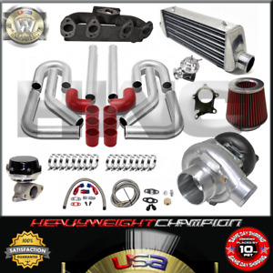 Turbo Kit T3 t4 For Volkswagen Golf Gti Jetta Mk3 4 2 0 Ic Pk Wg Bov Manifold Rd