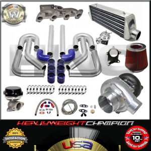 Turbo Kit T3 T4 For 95 02 Chevy Cavalier Sunfire 2 2l S10 Ic Wg Bov Manifold Bl