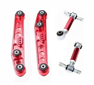 Red Lower Control Arms Camber Kit For 88 95 Civic Eg ef Crx del Sol Dc2 integra