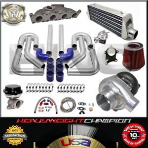Turbo Kit T3 t4 For Vw 1 8t Golf Jetta Mk4 Audi A3 Tt Fmic Pk Wg Bov Manifold Bl