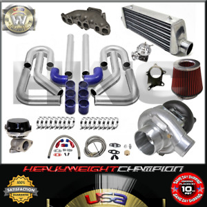 Turbo Kit T3 t4 For Golf Gti Jetta Passat Vr6 2 8 12v Fmic Pk Wg Bov Manifold Bl