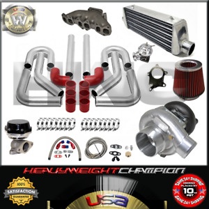 Turbo Kit T3 t4 For Golf Gti Jetta Passat Vr6 2 8 12v Fmic Pk Wg Bov Manifold Rd