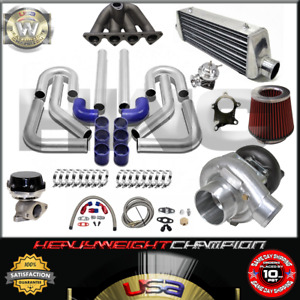 Top Mount Turbo Kit T3 T4 For 88 00 Civic Delsol Crx Sohc Fmic Wg Bov Manifold
