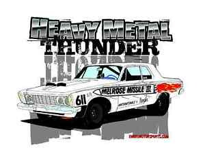 1963 Plymouth Savoy 426 Super Stock Missle T Shirt Thunder