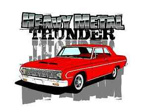 1964 Plymouth Savoy 426 Hemi Super Stock T Shirt Thunder