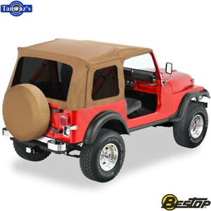 1976 1995 Jeep Cj7 Wrangler Supertop Classic Replacement Soft Top Spice