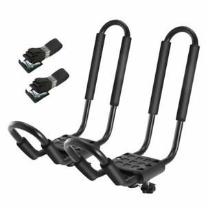 A Pairs Kayak Roof Rack Canoe Carrier Top J Bar Mounts For Suv Truck Van Car