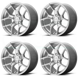 17x9 5 Motegi Mr133 5x120 45 Hyper Silver Wheels Rims Set 4