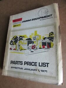 Tractor Farm White Equipment Parts List Catalog Tractors Combines 10 15 20 1971