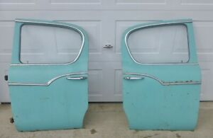 Pair 1959 1960 1961 Studebaker Lark 4 Door Rear Doors