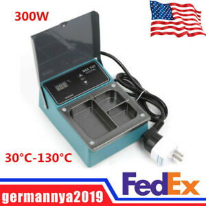 Dental Lab 300w 3 Well Analog Melter Electric Heater Melting Dipping Pot New