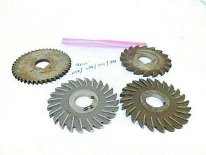 Used 4pcs usa Hss Slitting Saw Milling Cutters dia 3 3 4 To 4