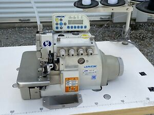 Jack 798e 4p Direct Drive Overlock Serger Industrial Sewing Machine Low Use