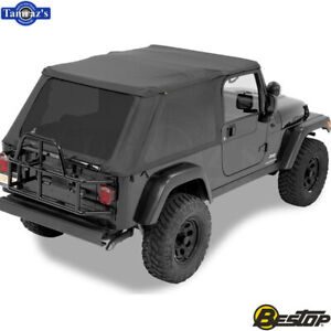 2004 2006 Jeep Wrangler Lj Unlimited Trektop Complete Soft Top Black