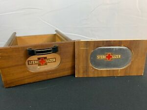 Vintage Antique Medical Antiseptic Sterilizer Wood Cabinet Parts