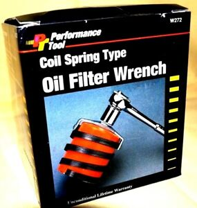 Large Small Coil Spring Oil Filter Wrench Heavy Duty Steel Grip Fliter W272 W271