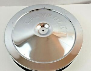 Vintage 1954 Chevrolet Chrome Air Cleaner Cover Base Corvette Fits Actype A212c