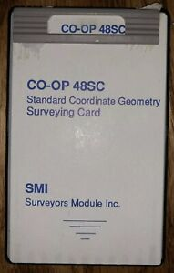 Smi 48sc Standard Coordinate Geometry Surveying Card Module Hp 48gx Surveyor