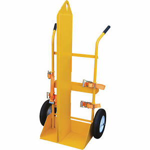 Vestil Welding Cylinder Torch Cart Pneumatic Wheels cyl eh