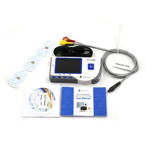 Heal Force Handheld Color Easy Ecg Ekg Heart Monitor Usb Continuous Measuring