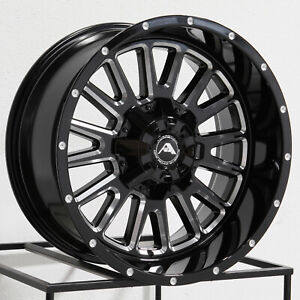 20x10 American Off Road A105 5x150 24 Black Milled Wheels Rims Set 4