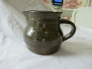 Signed 1989 Handmade Stoneware 5 Pitcher Great Collectible Nice Colors