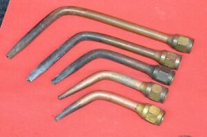 Vintage Brazing Welding Torch Tip Set Sizes 00 0 3 5 7 Victor National Oxweld