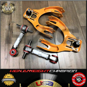 Yellow Silver Pro Front Rear Camber Kit 92 95 Civic Eg ej Delsol 94 01 Integra
