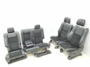 2015 2019 Jeep Grand Cherokee Complete Set Of Front And Rear Leather Black Seats