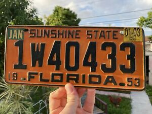 Original 1950 S Vintage Florida Miami Vacation Promo License Plate Topper Usa