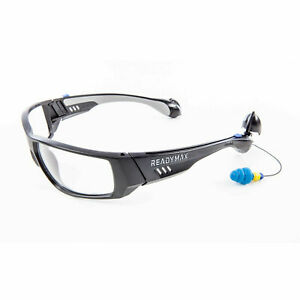 Readymax Safety Glasses With Ear Plugs Eye Hearing Protection