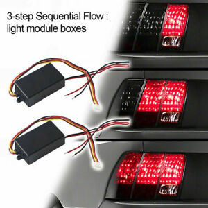 Universal Car 3 step Sequential Flow Dynamic Chase Flash Tail Light Module Boxes