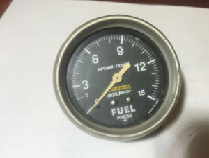 Used Auto Meter Gauge Fuel Pressure 2 5 8 Sport Comp Mechanical